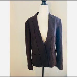 NWT Calvin Klein Brown Blazer Wool Blend Size 8P